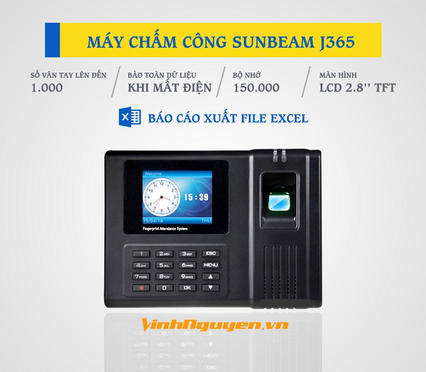 Máy chấm công Sunbeam J365
